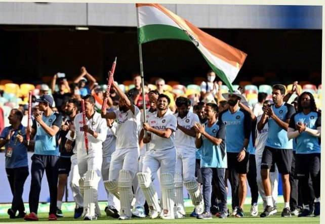 India won the Border gavaskar trophy 🏆 for 1-2 'Congrats India' 👏  India won the test in Brisbane which luckiest test ground for Australia after 32 year they loss the match against india  #INDvAUS  #INDvsAUSTest  #TeamIndia