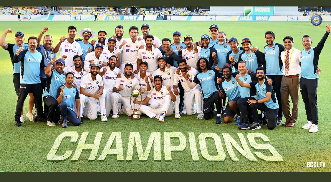 What a game it was !!! 🔥 #IndiavsAustralia #IndianCricketTeam #Champions