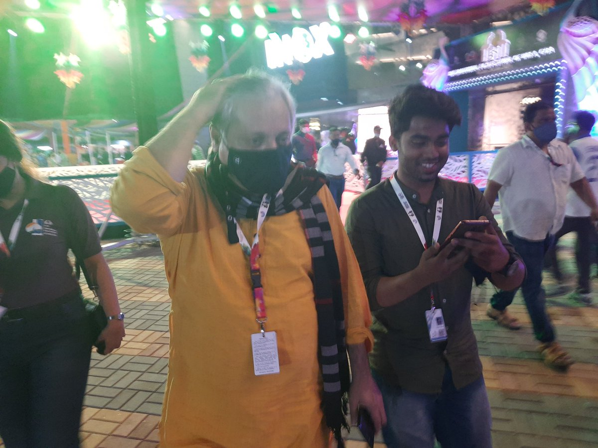 #IFFI15 #IFFI2021 #IFFIVibes #IFFIGOA @actormanojjoshi Golden moment which we had spent with you Sir...
