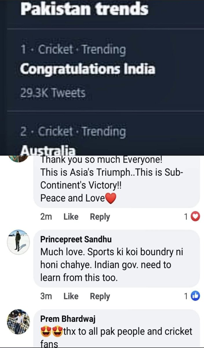 Pakistan's Twitter Trend!! If this was done by Indian Fans on Pakistan's victory, @PMOIndia would have blocked twitter! Or some of them might be labeled as Deshadrohi 🤷🏼‍♂️ Well played Team Indian! #Gabba #INDvsAUS