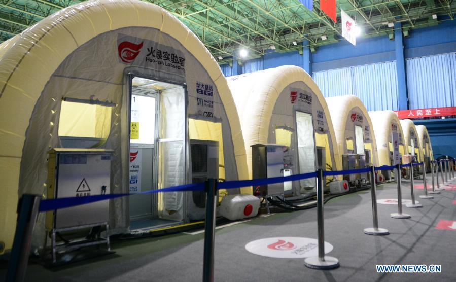 China's nucleic acid test lab Fire Eye improves #Shijiazhuang's testing capability. #ChinaSpeed #COVID19