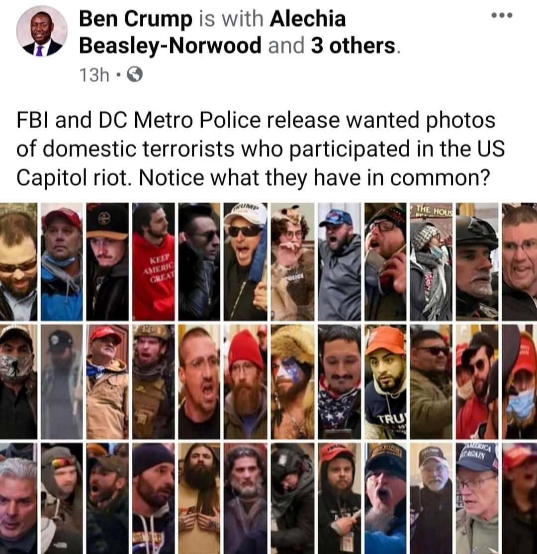 FBI And DC Metro Police Wanted Photos Of Domestic Terrorist Who Participated In The US Capital Riot  And Assaulting A Police Officer.  #FBI #NYPD #CapitalRiots #LockThemAllUp #PictureOfTheDay #PostOfTheDay #FuckRacism #MrBlackCat1069 #Election2020 #Wanted #ArrestThemAllNow