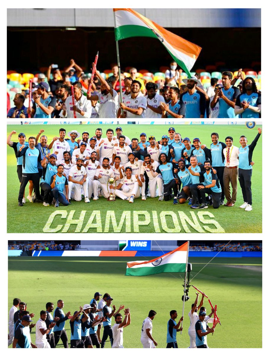 🙏👏 Congratulations on the historic win, Team India!! Incredibly happy and proud 🇮🇳 #AUSvsIND  @BCCI @ICC #TeamIndia #IndianCricketTeam #INDvsAUS #viratkholi #Cricket #RishabhPant #BorderGavaskarTrophy