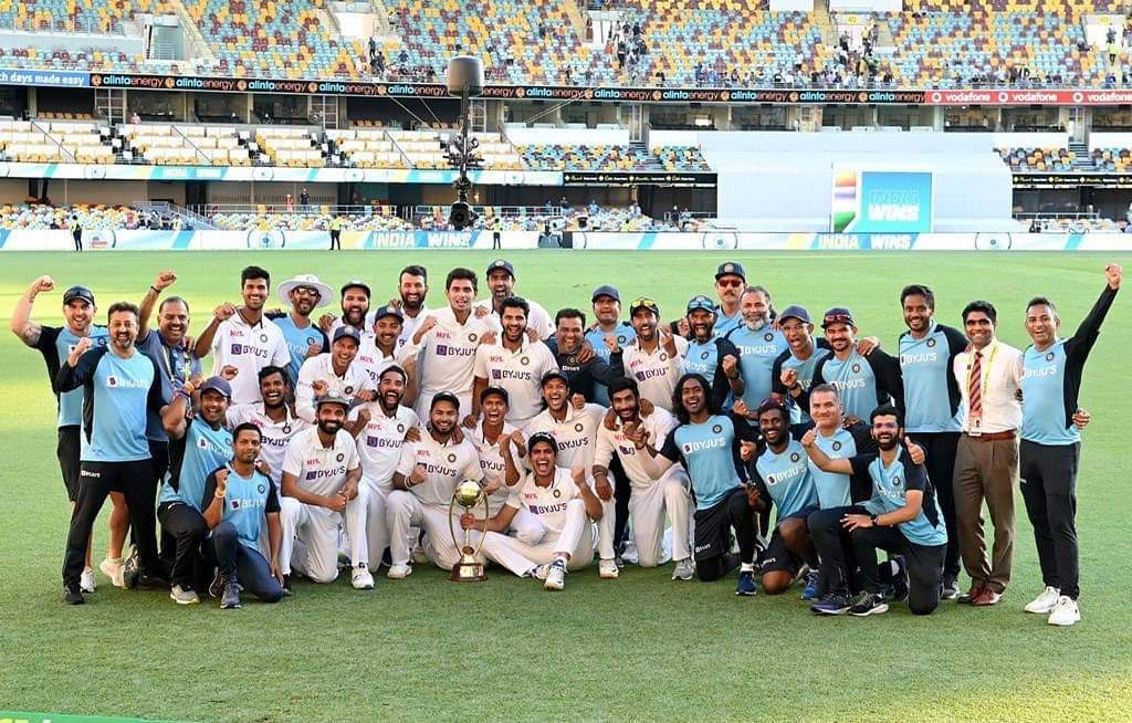 We came, we fell, we rose and we conquered like king ❤  Fortress Gabba breached for the first time in 32 years... Well played Team India ...🙌.. Every player contributed and stood tall to make this happen.. India wins 2-1  #IndiavsAustralia  #BorderGavaskarTrophy