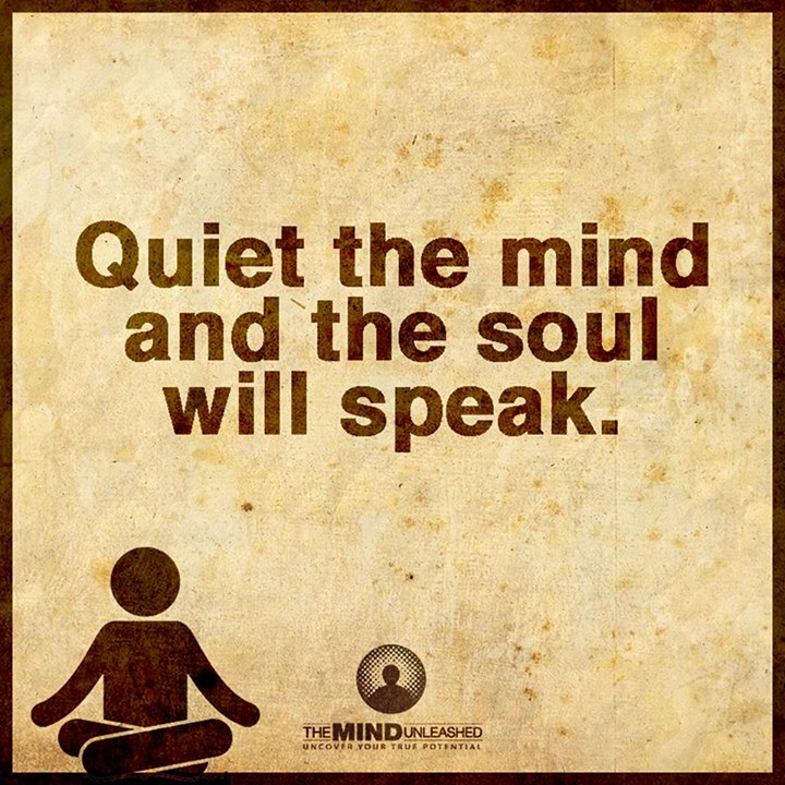 Quiet the mind and the soul will speak.-  #quote