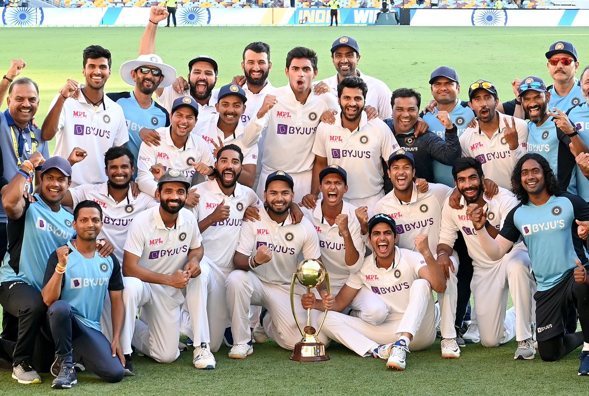 Congratulations    #TeamIndia  #IndiavsAustralia  @BCCI  @ajinkyarahane88 @RishabhPant17 @ImRo45