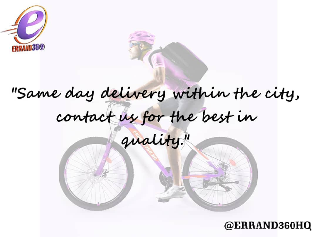 Same day delivery within the city! We give quality and best services.💪 #ContactUs  . .  #errand360 #january #happynewyear #riders #deliver #giveaway #logisticscompanyinlekki  #lagosbusiness #tuesday #tuesdaymotivation #owambe #logisticscompany #logisticshub #sendus #hustler