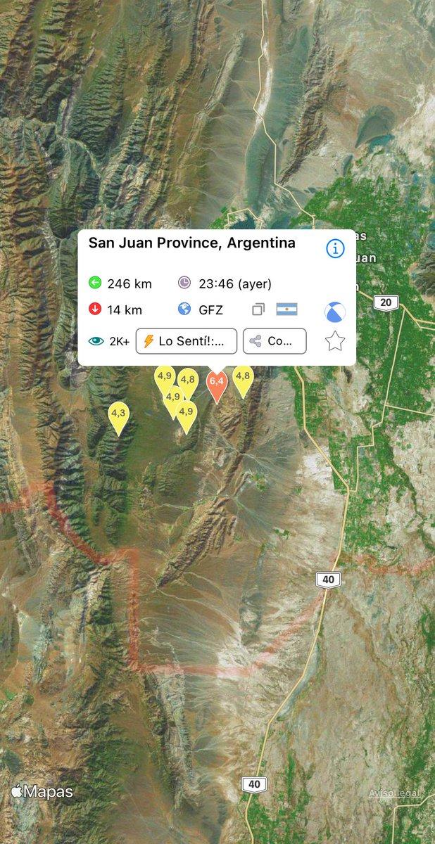 I just felt this #Terremoto: San Juan Province, Argentina, a 19 enero 2021 02:46 a. m. (UTC), Magnitud: 6,4 https://t.co/fugqgwfxSH