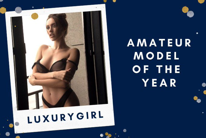 Hooray! I'm an amateur model of the year on @Pornhub! My dearest viewers, thank you a lot for watching