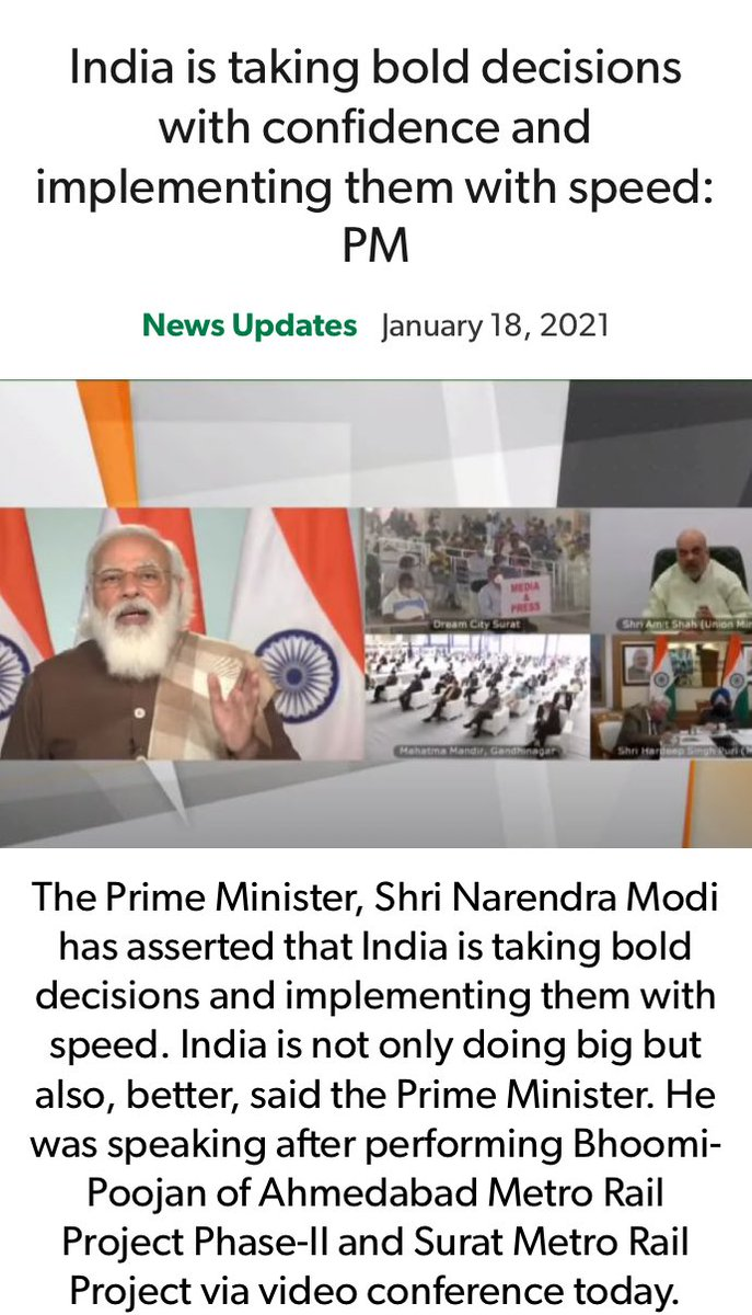 India is taking bold decisions with confidence and implementing them with speed: PM nm-4.com/hoTGvW via NaMo App