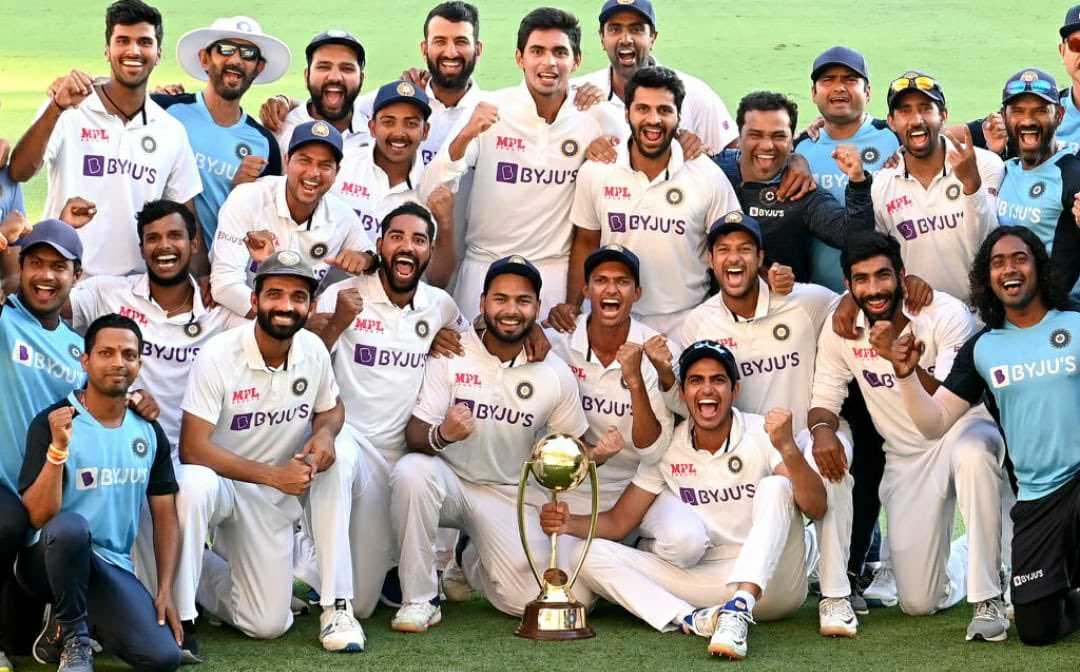 When the chips are down. You push harder.💪💪 A series we can never forget. 😍 Through the tough times we always believed and backed ourselves and this series win proves with belief you can achieve everything.💯🙏@BCCI