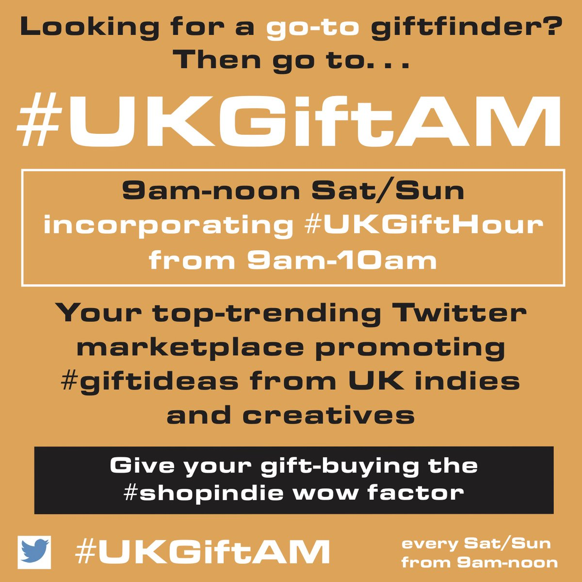 If you're selling or looking for #giftideas - or just like to spend time in fun and supportive company - there's always a welcome at #UKGiftHour #UKGiftAM! It's a #weekend #shopindie marketplace of gems from UK indies and creatives, join us and #supportsmallbusiness!  #giftfinder