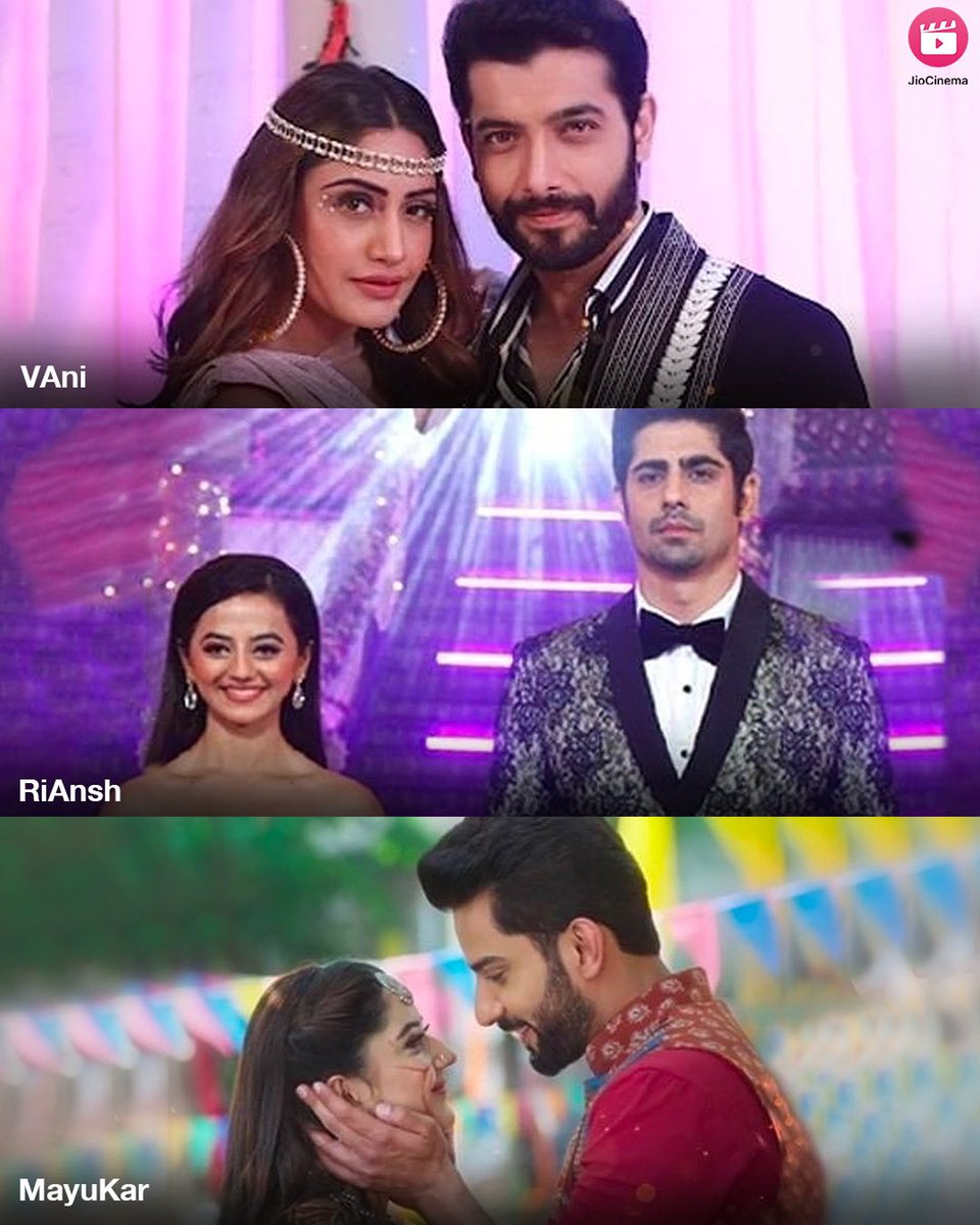 These couples are definitely our Couple Goals 😍 Which couple is your favourite? 🥰🤗  #Vani #bani #surbhichandna #sharadmalhotra #naagin #ishqmeinmarjawan2 #hellyshah #rrahulsudhir