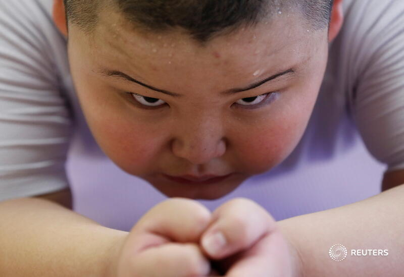 Meet Kyuta Kumagai. 10 years old. 85kg. And a sumo in training. Great pix by Kim Kyung-Hoon  See story here:   #sumo #Japan
