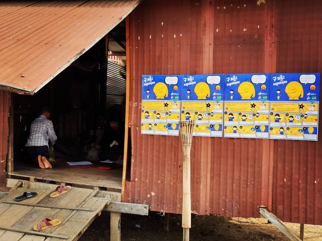 @childsafemovement campaign for #children on protection from #covid is widely displayed in #SiemReap communities #childprotection #3pc #Cambodia @friends_intl