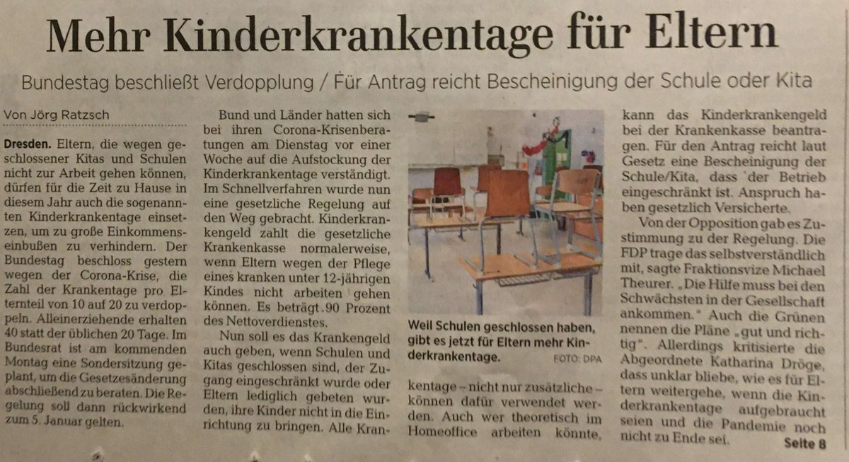 OK, here comes my favourite compound-headline from the weekend, featuring German Kinderkrankentage children.sick.days, and showing semantic opaquization in action. What does it mean? Why is it interesting? Read on! #compoundWatch