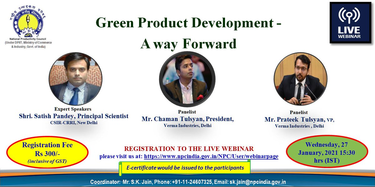 "pl #join #webinar ""#Green #Product #Development- A Way Forward"" #Registration Link:   #training #online #Amazon"
