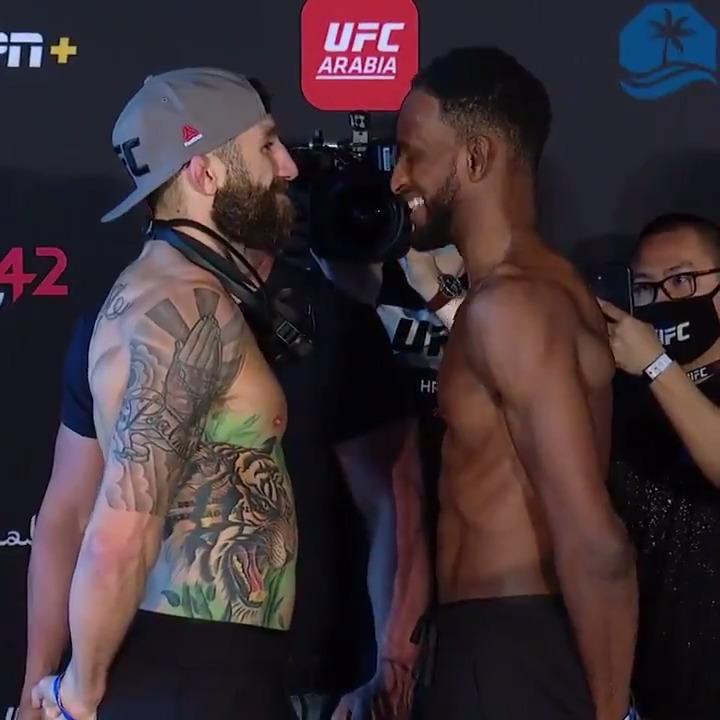 Don't blink! 😅 @MikeMav22 & @NeilMagny face off before their #UFCFightIsland8 main event tomorrow!  📺🇨🇦 9amET/6amPT start - exclusively on @UFCFightPass  #InAbuDhabi | @VisitAbuDhabi https://t.co/XXz1NMvgN2
