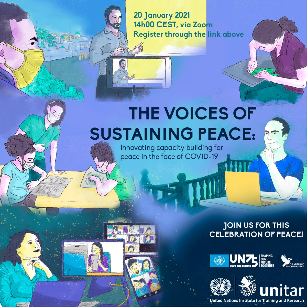 🕊️Join us this Wednesday to hear from @HochschildF @AlanCDoss @omeisy & other peacebuilders from all around the world about innovative approaches to sustaining #peace amid the ongoing #COVID19 pandemic.  Register now and add your voice to the debate👉