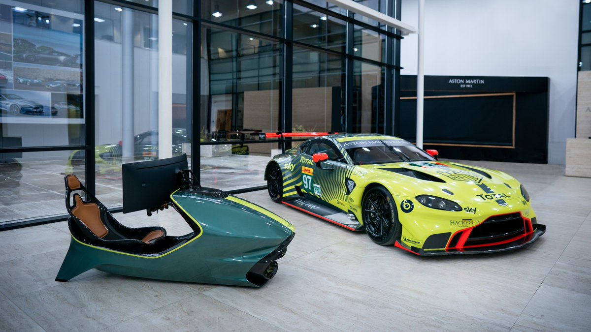 With the AMR-C01 racing simulator you can drive Vantage GTE at Le Mans...  Or Silverstone. Or Spa. Or Monaco. Or…  #AstonMartin https://t.co/9aJIDrw9GU