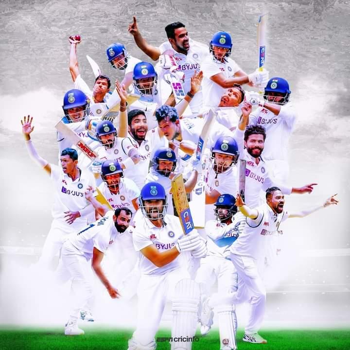 बॉर्डर-गावस्कर ट्रॉफी जिंकल्याबद्दल टीम इंडियाचे मनापासून अभिनंदन. गाबा येथे ३२ वर्षांनंतर ऑस्ट्रेलियाचा पराभव झाल आणि तो #TeamIndia ने केला. रोमांचकारी सामन्यात मिळवलेल्या विजयाबद्दल भारतीय संघातील सर्व खेळाडूंचे अभिनंदन..  #AUSvsIND #BorderGavaskarTrophy !  #IndiaWins