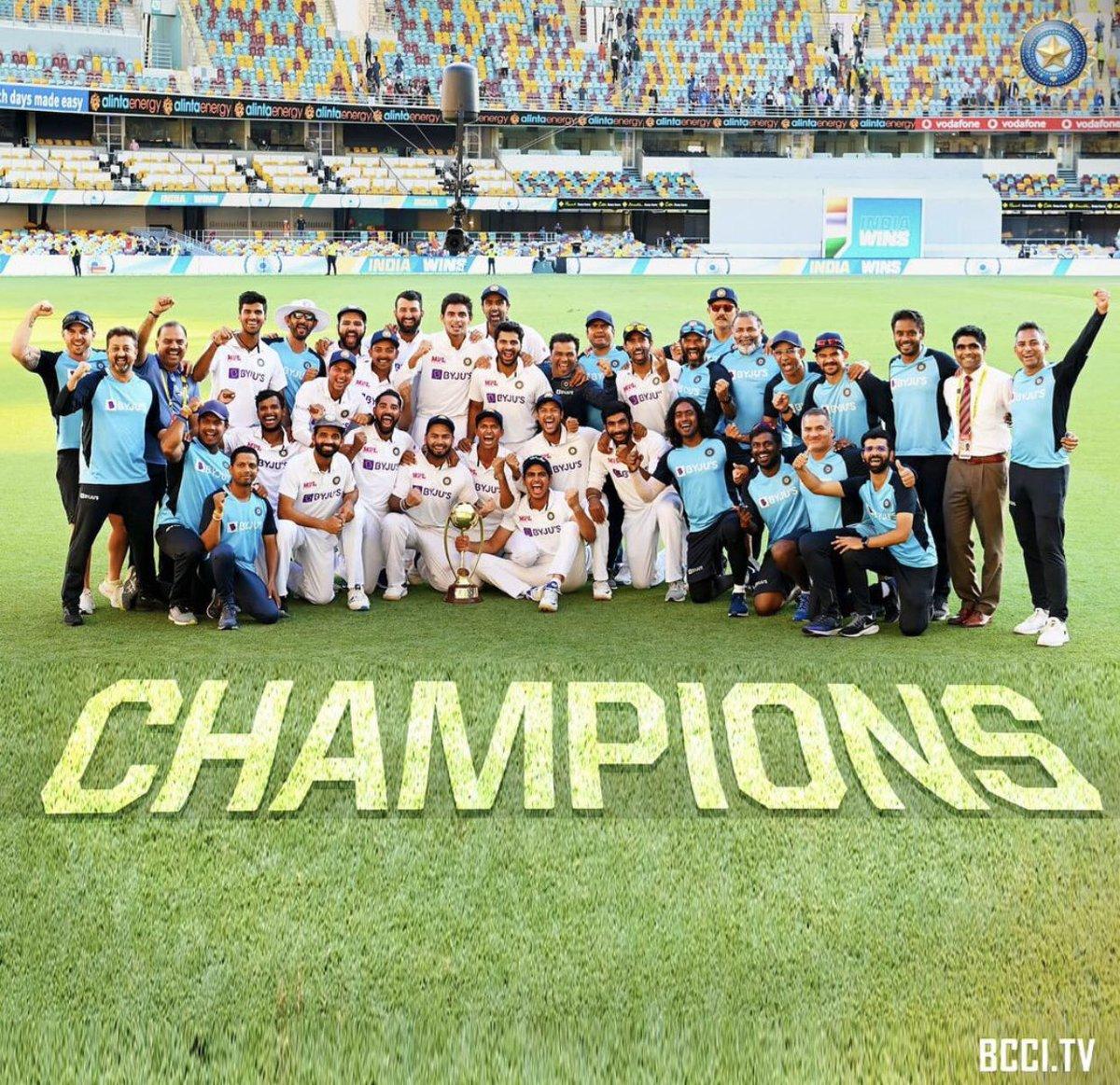 A performance we will remember forever.😍 Congratulations #TeamIndia A brilliant series, terrific brand of cricket on display. You were fantastic. 🇮🇳🙌 😎❤️ @ajinkyarahane88 @imVkohli @BCCI
