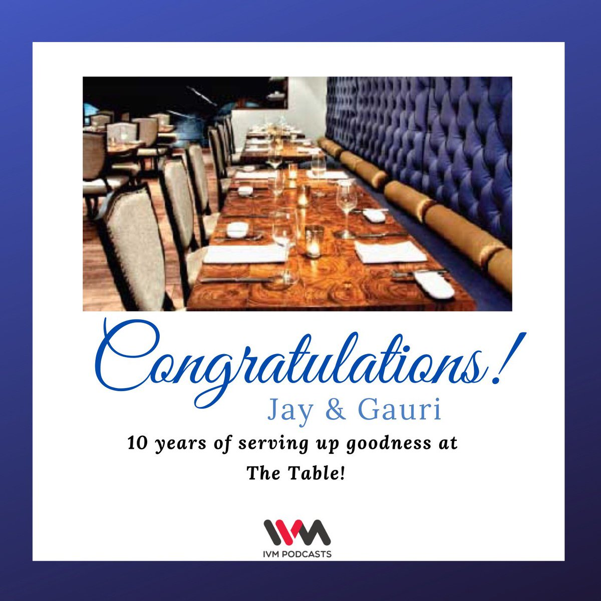 Wishing Jay Yousuf and @gauridetails countless more years of unparalleled success and unrivalled hospitality. Big love from the IVM team @ivmpodcasts ! @TheTable_Colaba #10thanniversary #anniversary #thetable_colaba