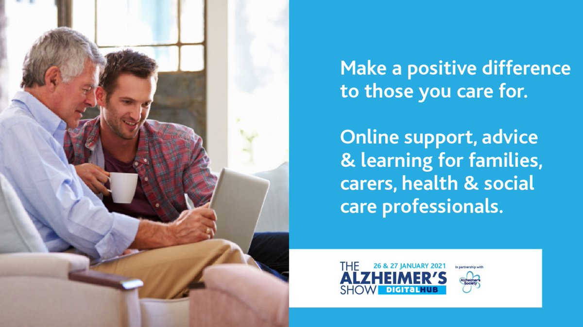 Looking for practical dementia guidance? We're partnering with the @AlzheimersShow on Tues 26 & Wed 27 January for two days of exciting webinars, covering topics including planning and paying for care, and advice on how to get a diagnosis.  Register today!