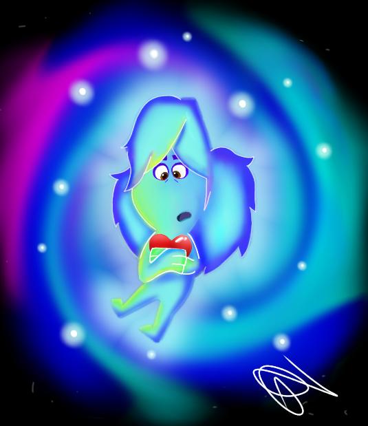 Mariyah Carrying a Heart ❤🤲☄️💫 #soulsonachallenge #PixarSoul #drawing #passion