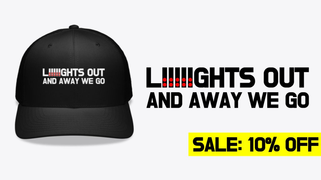 Lights Out and Away We Go for the perfect #F1 style cap! Available worldwide with 10% OFF at