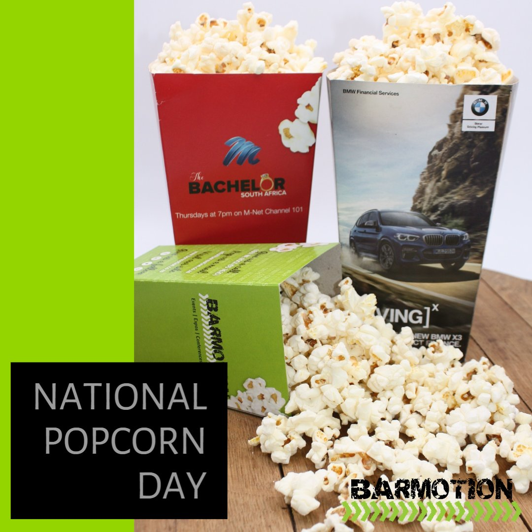 This could be my favourite day of the year! #NationalPopcornDay What's not to love about our popcorn bar? Take it to the next level and lets brand your popcorn boxes.  #Sweet #Salty #Branding #Popcornbar