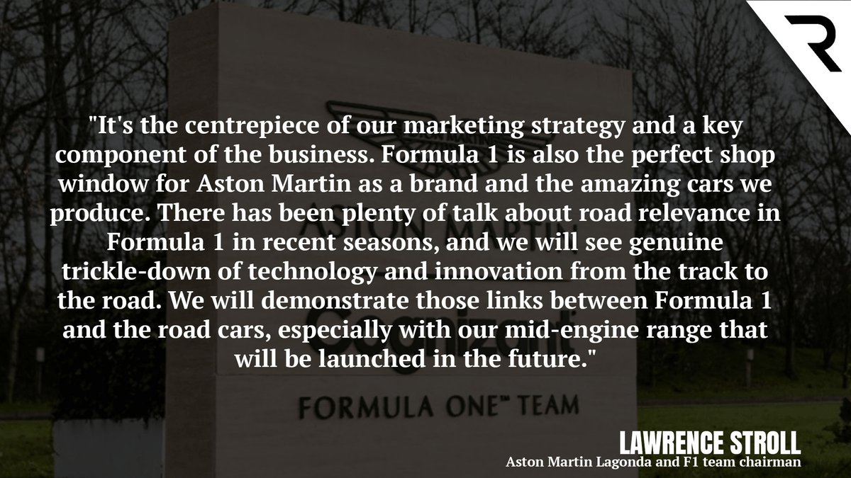 Is Aston Martin a real works #F1 team?  Here's what Lawrence Stroll says about the Racing Point rebrand and where it fits for Aston as a company 🗣️