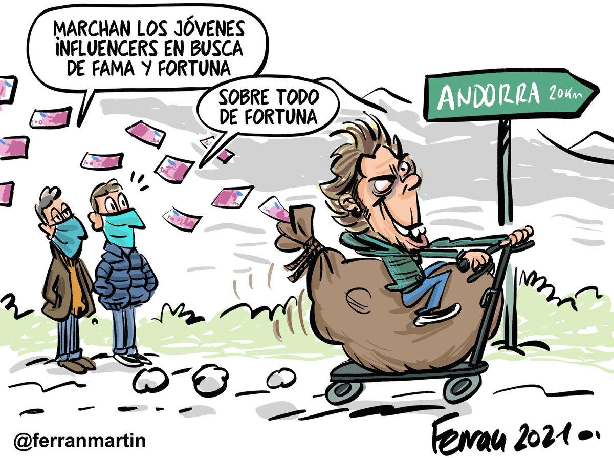 Fortunas. Nueva viñeta vía Patreon:  #viñetas #andorra #rubius #influencer #patriota