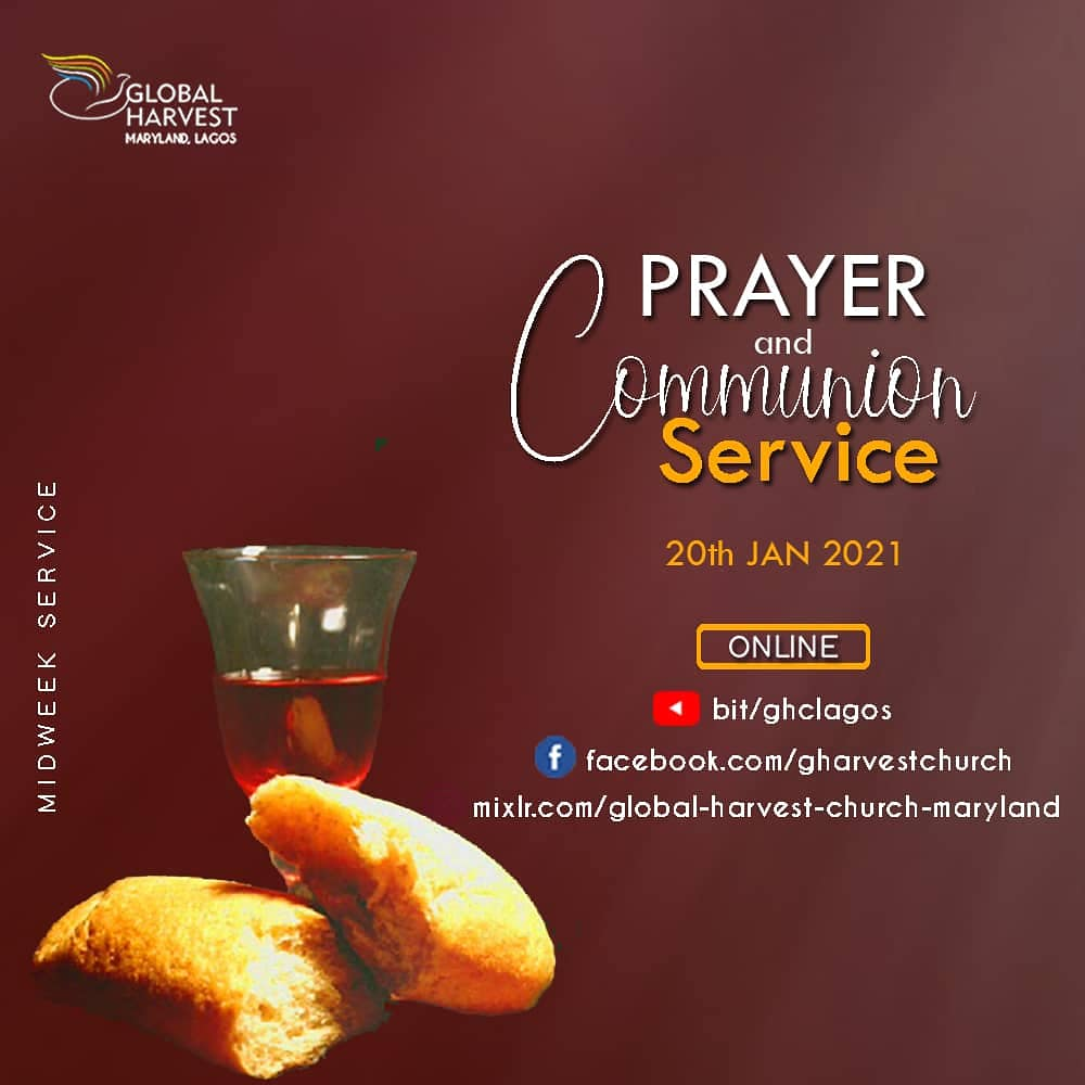 #21DaysofGlory continues tomorrow  with the Prayer and Communion service by 6pm.  Please see flyer for more details  #revvictoradeyemi  #jumoke_adeyemi  #GharvestChurch  #DiscoverPurpose  #Anewglory  #allthingsarepossible #happynewyear  #communionservice #prayer #21daysofglory
