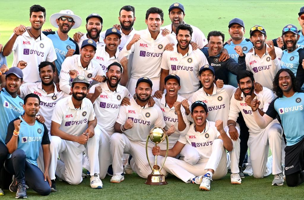What a Historic Victory.. Congrats #TeamIndia Indian players have answered for Australian's Sledging and all kind of unwanted activities..  🇮🇳🇮🇳🇮🇳🇮🇳🇮🇳🇮🇳 💪💪💪💪💪💪 @BCCI @SGanguly99 @ajinkyarahane88 @RishabhPant17  @imShard  @Natarajan_91  @Sundarwashi5