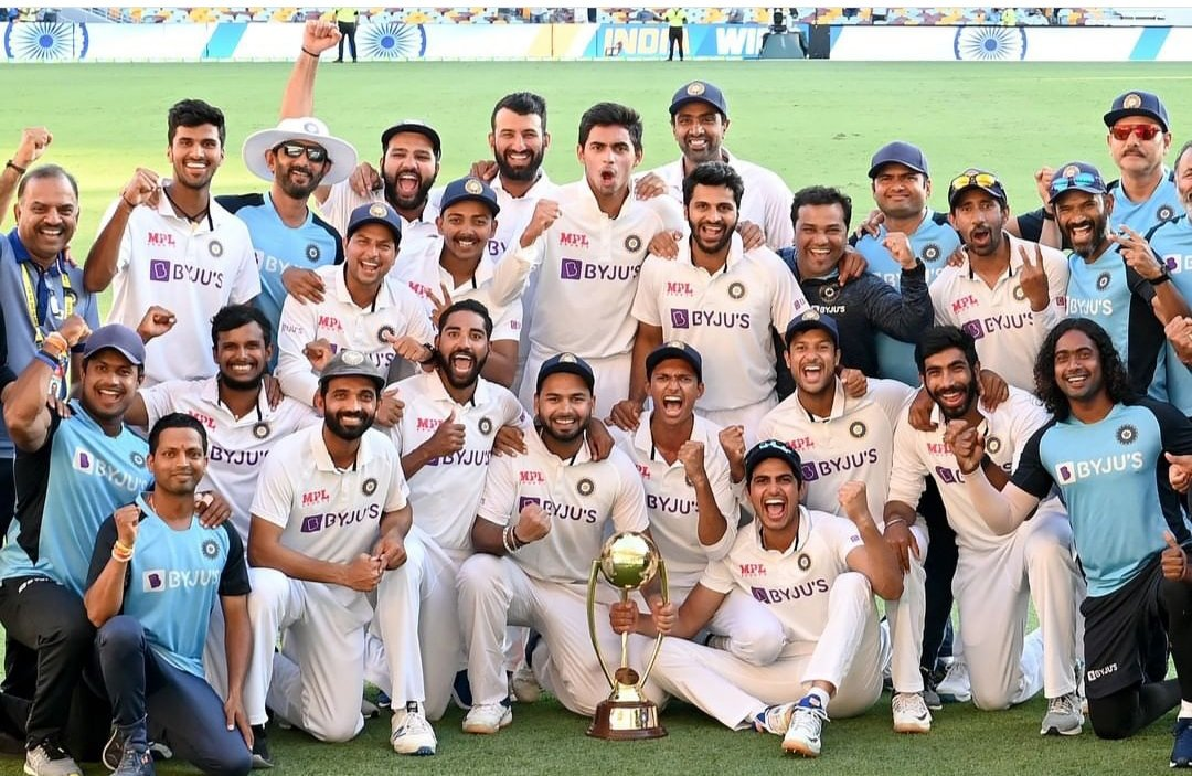 Well played #Teamindia Congratulations to our Heroes We proud on our Young INDIAN team. Special congratulations to @RishabhPant17 🙏 & thanks @ajinkyarahane88 for keep Maintain their unbeaten captaincy record. Finally R.Pant proved his ability with full responsibility. #INDvsAUS