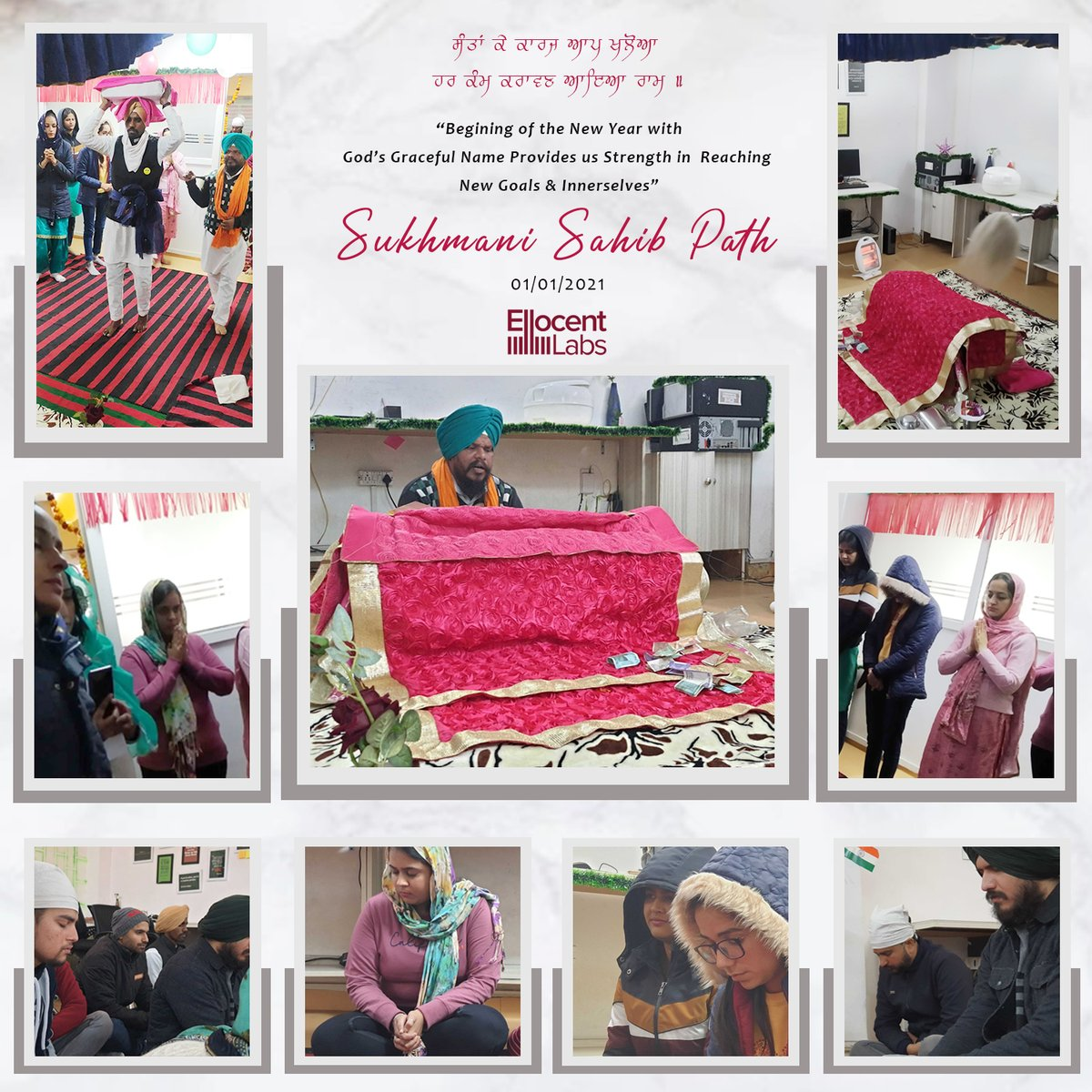 Few glimpses from our office celebrations #Celebration #newyear2021 #Newyearcelebration #devotion #newstarting