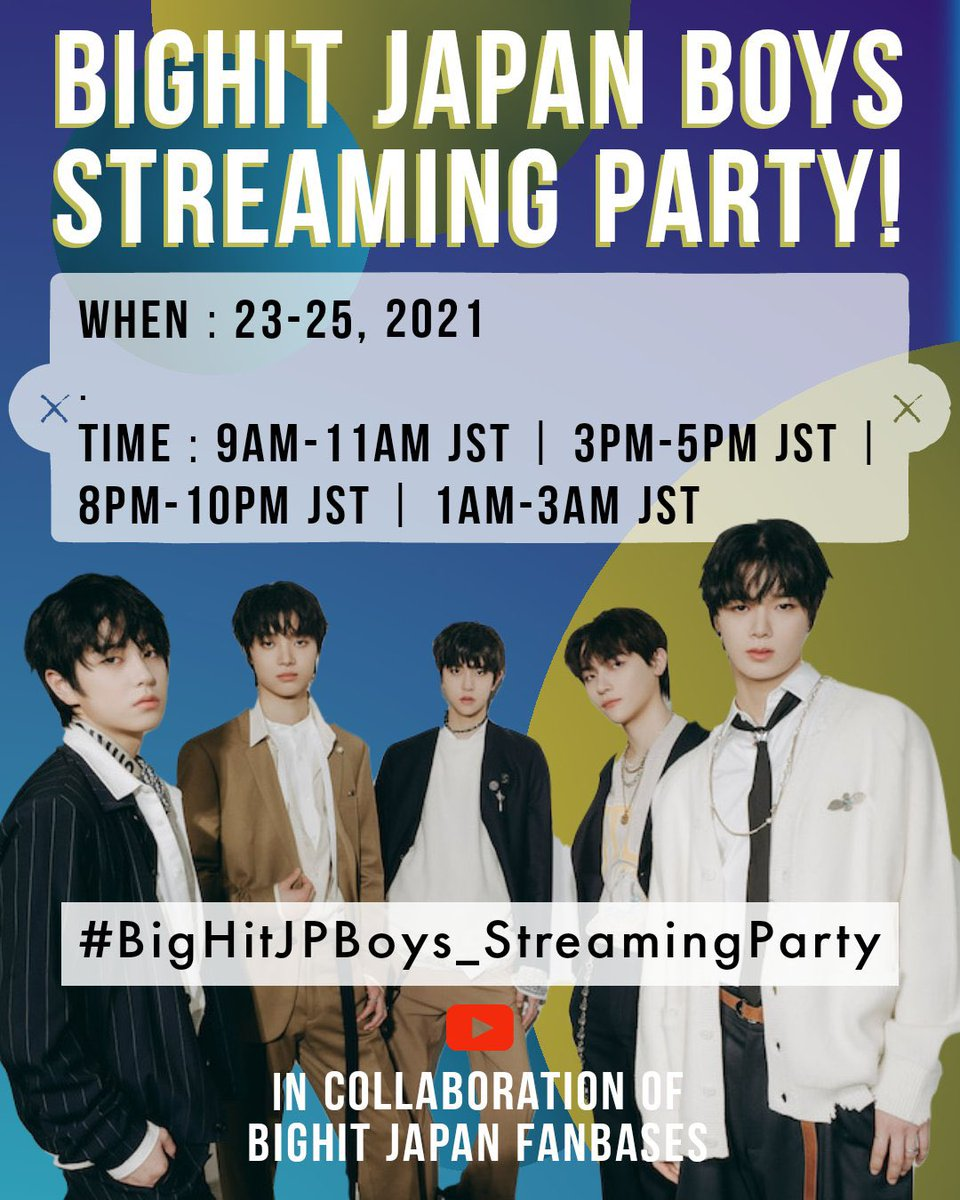 NICHOLAS GLOBAL ANNOUNCEMENT 🌐  Good Day!  We are happy to finally drop the first ever BigHit Japan Boys' STREAMING PARTY in collaboration of BigHit Japan Fanbases!  Please read instructions & participate!  Playlist link ➡️