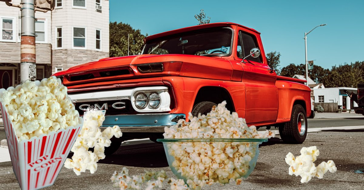 National popcorn day!  Remember drive in movies?   Body Shop Nation  #BodyShopNation️ #NationalPopcornDay #TuesdayMemories #DriveInMovies #BeKind #GMC  #OldDays #