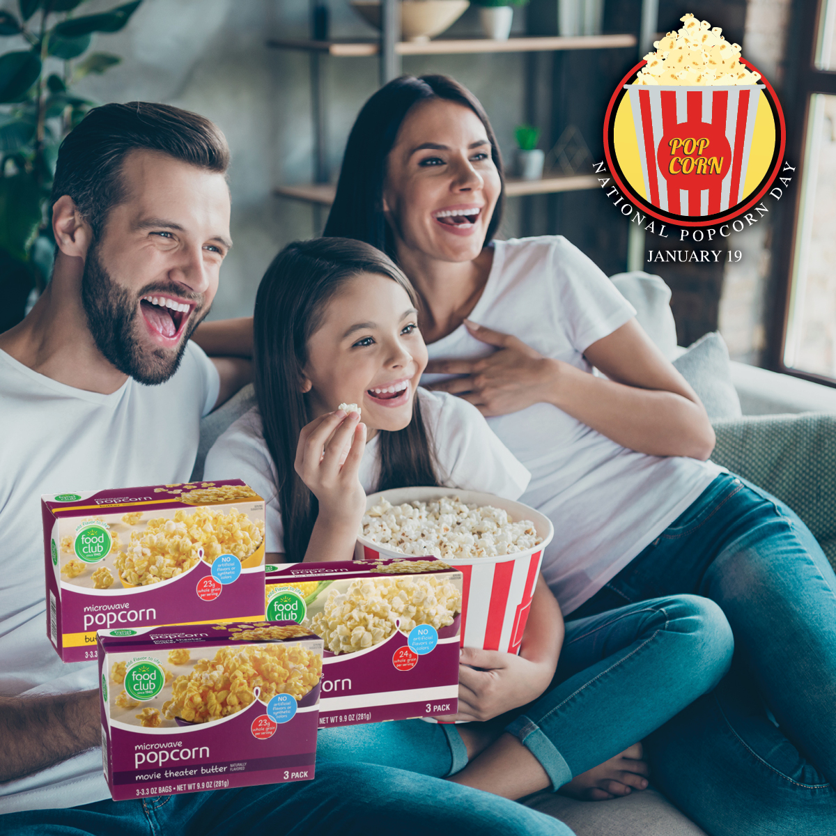 Save and earn Celebrate Rewards points when you enjoy Food Club Popcorn this National Popcorn Day! 🍿 Sign up to begin saving ➡   #BrookshireBrothers #NationalPopcornDay #CelebrateRewards