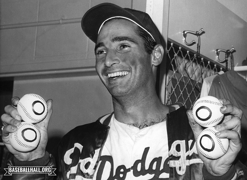 Forty-nine years ago today, @dodgers icon Sandy Koufax was elected to the Hall of Fame. No electee has ever spent as many years as a Hall of Famer. Happy anniversary Sandy!