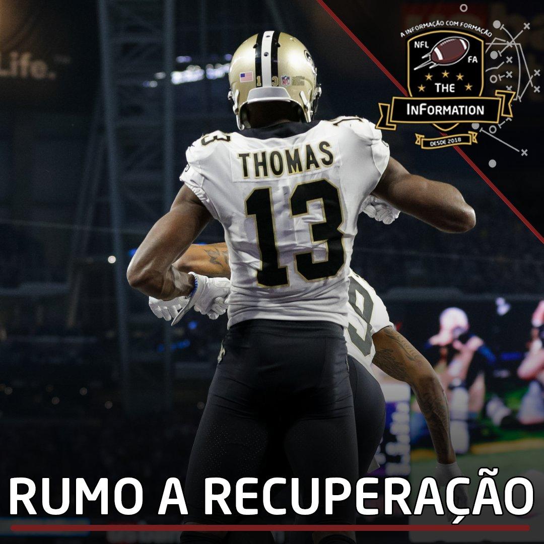 RUMO A RECUPERAÇÃO   O WR do #Saints, Michael Thomas, provavelmente fará cirurgias no deltóide rompido e em outros ligamentos lesionados no tornozelo alto nesta offseason.  #NFL #NFLBrasil #NFLEleven
