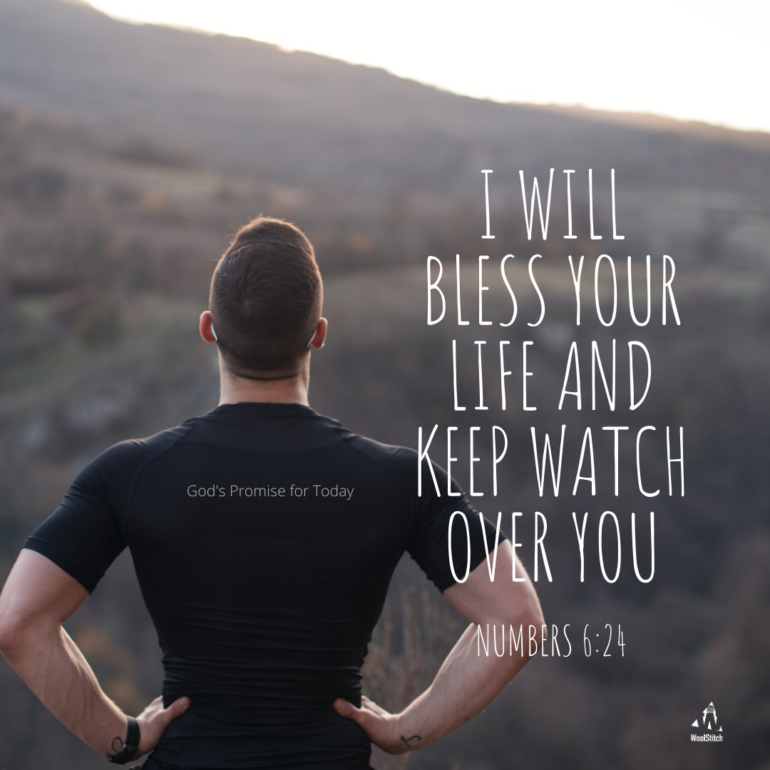 #TodaysPromise    Just like a mother hen, may the Lord bless you, watch over you and keep you. May His protection cover you so you lack nothing. #Numbers6v24  Pray this promise of blessing into your life today. #Amen  #HisPromise #dailyPromises #Bless #WoolStitch #dvo #devotion