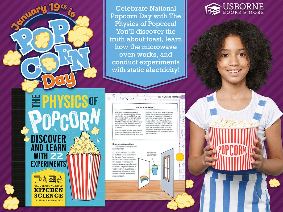 Happy National Popcorn Day!   🍿  Celebrate National Popcorn Day with this children's book title ~  The Physics of Popcorn   Get Your Copy Here:   #NationalPopcornDay     #PopcornDay     #FarmyardBooks