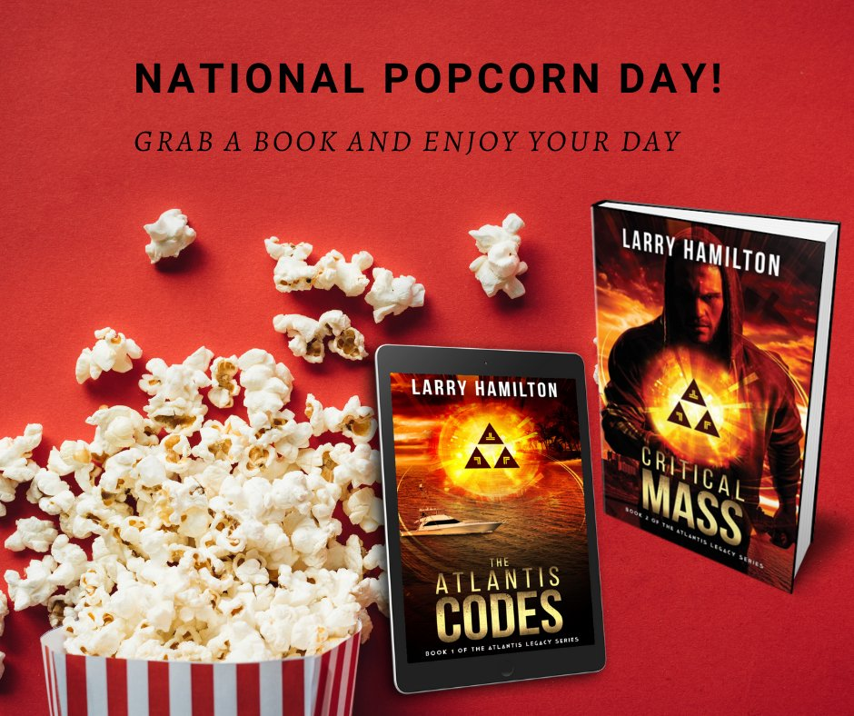How will you celebrate National Popcorn Day? #nationalpopcornday #popcorn #reading