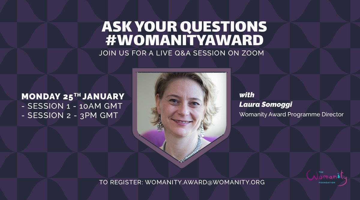 Want to learn more about the @forWomanity awards for the prevention of #domesticviolence? Tune in this coming Monday! #WomanityAwards #women #girls