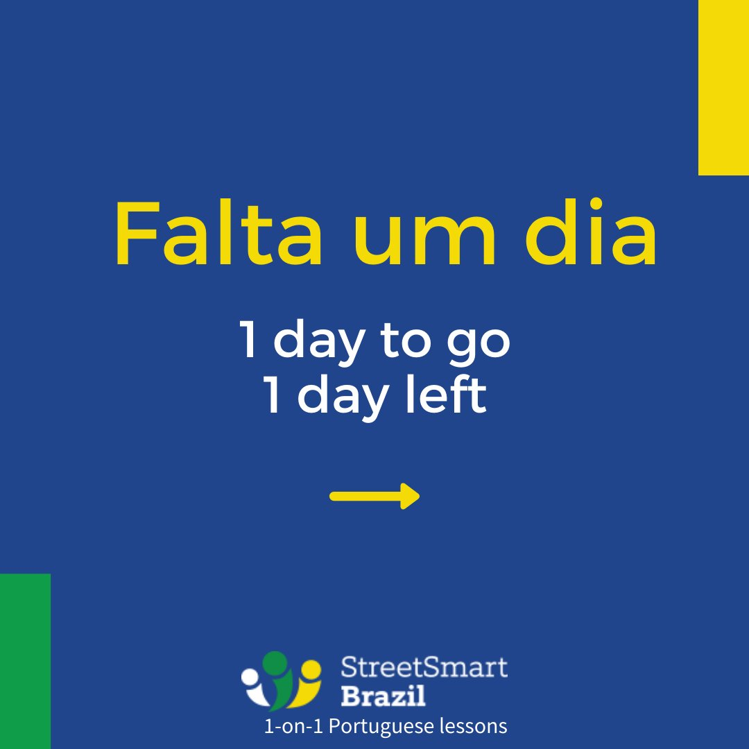 How to say in #Portuguese : One day left. Two days to go. Etc. I added a couple of useful tips and words to the examples. Lots of good stuff in these 4 pictures 👍🏼  #portugueselesson  #learnportuguese #onlineportugueselessons https://t.co/MF9JbGZYex