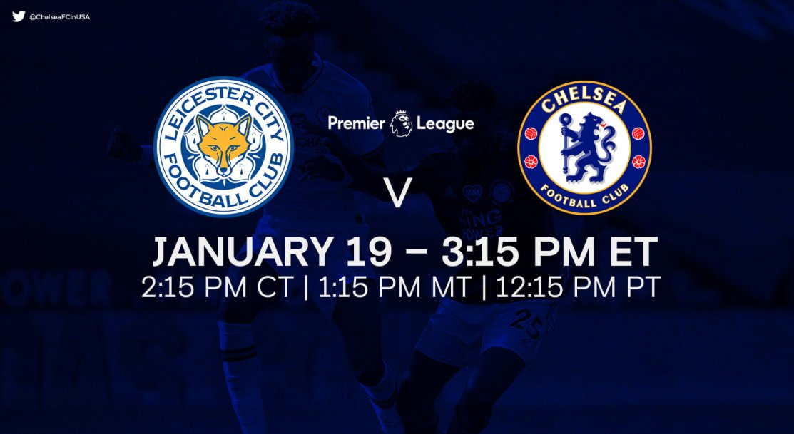 4 hours. #LEICHE   📅: Tuesday, January 19  ⏰: 3:15 PM (ET)  📍: King Power Stadium  📺: NBCSN   FULL PREVIEW 📰👉: