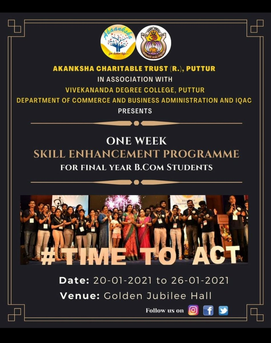 Mega event of team ACT 🤩 One week workshop by members of team ACT . . . #act #time_to_act #ngo #volunteering #education #project #changemakers #sdg4 #happiness