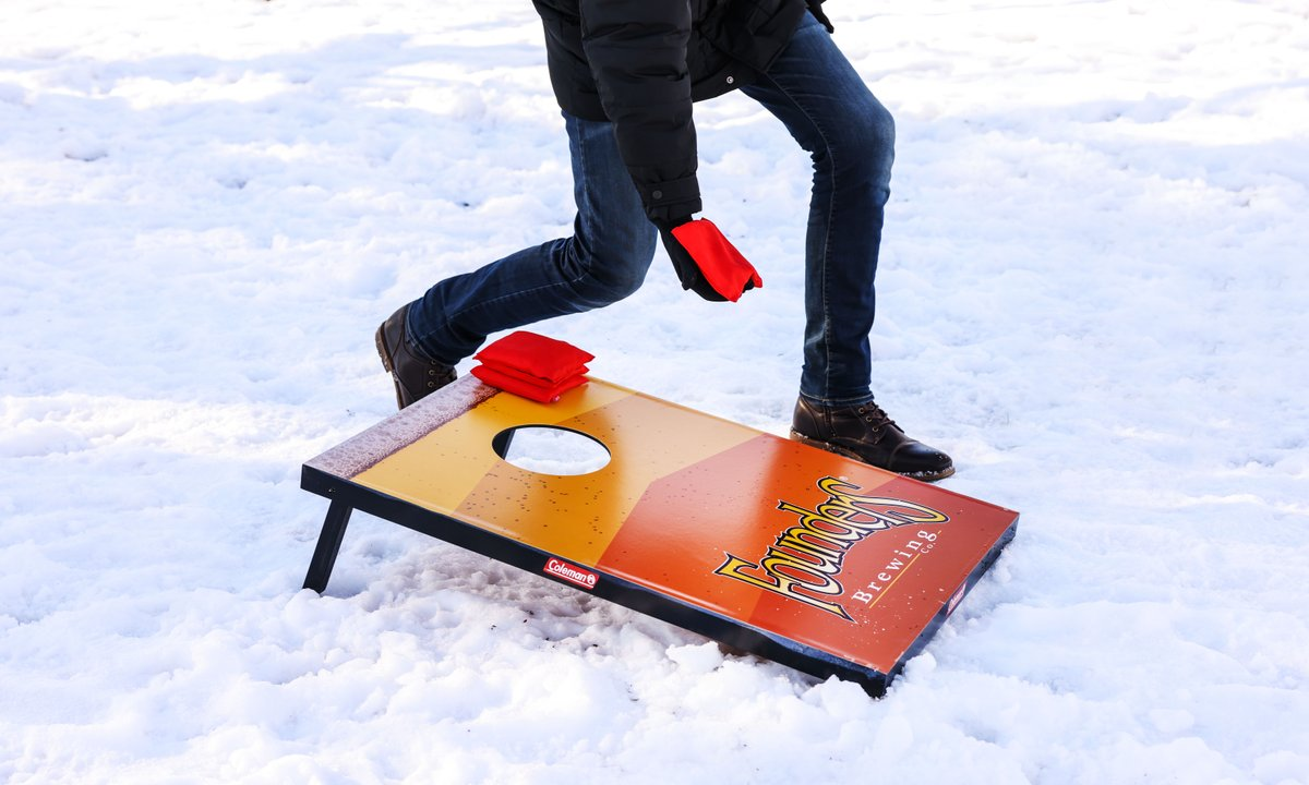 It's giveaway time!  Summer will be here before you know it! We're giving away a Founders-branded bag toss set and all you need to do to win is like this post and tag your ideal bag toss partner! We'll randomly select one winner on Thursday, January 21. Good luck!